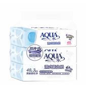 《AQUA水》濕式衛生紙48抽*3包 $129