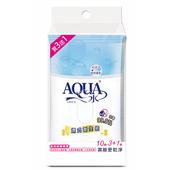 《AQUA水》濕式衛生紙10抽*4包 $52