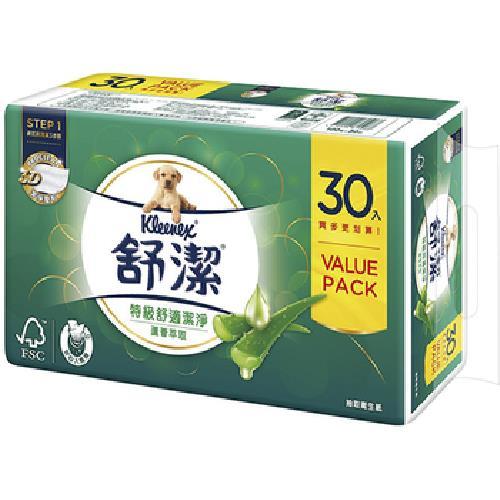 舒潔 蘆薈抽取衛生紙(100抽x30包)