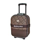《ROYAL POLO皇家保羅》混款布面登機箱/行李箱 〈17吋〉(雋永格紋 咖啡)