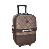 《BATOLON&ROYAL POLO》混款布面登機箱/行李箱 〈18吋 買1送1〉(斜格紋 咖啡)