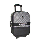 《BATOLON&ROYAL POLO》混款布面登機箱/行李箱 〈18吋 買1送1〉(斜格紋 黑)