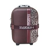 《BATOLON&ROYAL POLO》混款布面登機箱/行李箱 〈18吋 買1送1〉(針織豹紋 咖啡)