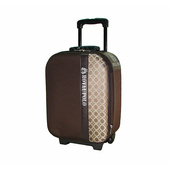 《ROYAL POLO皇家保羅》混款布面登機箱/行李箱 〈17吋〉(圓方 咖啡)