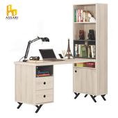 《ASSARI》優娜5尺L型二抽書桌(寬151*深60*高181cm)
