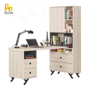 《ASSARI》優娜5尺L型四抽書桌(寬151*深80*高181cm)