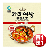 《買一送一》韓國清淨園 咖哩女王 108g/包(微辣海鮮咖哩)