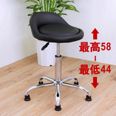《E-Style》高級皮革椅面(固定腳)工作椅/吧台椅/升降椅/旋轉椅/美髮椅/洽談椅/餐椅-黑色(黑色)