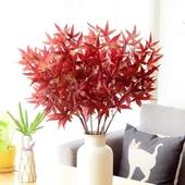 《仿真花》美國楓葉 小 約65cm(酒紅色)