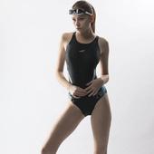 《SAIN SOU》中叉競泳連身三角泳裝加贈矽膠泳帽A97803(M)