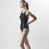 《SAIN SOU》中叉競泳連身三角泳裝加贈矽膠泳帽A97802(M)