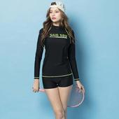 《SAIN SOU》泡湯 SPA 防曬二件式泳裝附泳帽A92882(M)