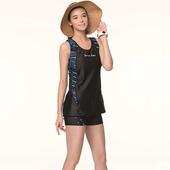 《SAIN SOU》泡湯 SPA二件式泳裝附泳帽A92868(M)