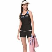 《SAIN SOU》泡湯 SPA兩截式泳裝附泳帽A92867(M)