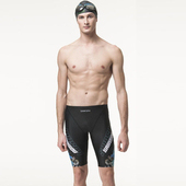 《SAIN SOU》七分競泳泳褲加贈矽膠泳帽A57803(M)