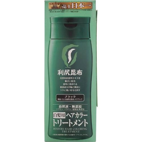 《日本sastty》利尻昆布染髮護髮乳 染髮膏  白髮用 天然 無矽靈200ml/瓶(黑)