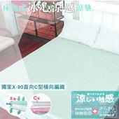《YAMAKAWA》床包式冰心涼墊(綠)-單人(單人105*186)