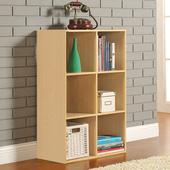 《佳嘉家》DIY菲爾六格櫃/書櫃/收納櫃/隔間櫃(白橡色)