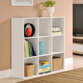 《佳嘉家》DIY菲爾九格櫃/展示櫃/書櫃/收納櫃/隔間櫃(白色)