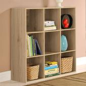 《佳嘉家》DIY菲爾九格櫃/展示櫃/書櫃/收納櫃/隔間櫃(淺橡色)