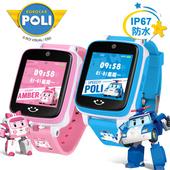 《IS愛思》ROBOCAR POLI 波力/安寶 4G LTE定位防水兒童智慧手錶(波力藍)