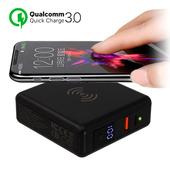 Qi-A12 QC3.0+PD輸出 快速無線充電行動電源(黑色)