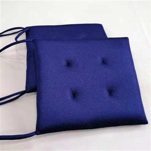 《4D透氣》水洗綁帶椅墊 坐墊 -藍色(42X42X4cm)UUPON點數5倍送(即日起~2019-08-29)