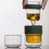 玻璃便攜快客杯-13.1X6.6cm(綠色)