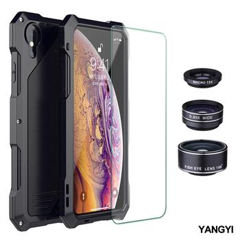 《YANGYI揚邑》Apple iPhone X/XS 鋁合金防摔防塵防水多重防護美拍鏡盔甲手機殼(Apple iPhone X/XS)