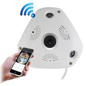《IS愛思》IR-3602K VR全景紅外線WIFI監控攝影機(白色)