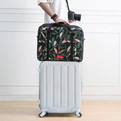 《韓版》禾風超質感加厚大容量可折疊旅行拉桿收納袋(神秘黑)