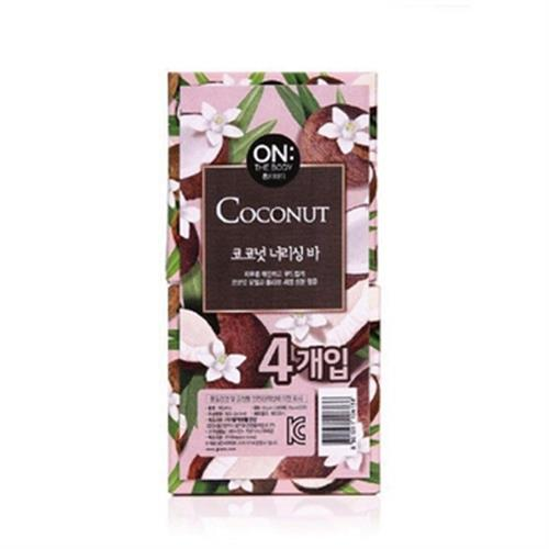 《ON THE BODY》椰子油潤膚香皂(90gX4入/盒)