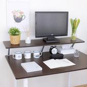 《頂堅》寬120公分(Z型)桌上型置物架/螢幕架(二色可選)(深胡桃木色)