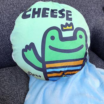 《P714星球》造型抱枕多用毯(多款任選)-品牌聯名獨家合作(CHEESE)