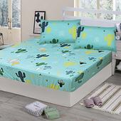 《Victoria》純棉單人床包+枕套二件組 - 仙人掌(綠)(仙人掌(綠))