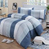 《Victoria》雙人四件式純棉被套床包組-格調(5*6.2尺)