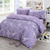 《Victoria》雙人四件式純棉被套床包組-雅致(5*6.2尺)
