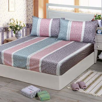 《Victoria》純棉加大床包+枕套三件組-繁花(6*6.2尺)
