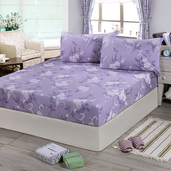 《Victoria》純棉加大床包+枕套三件組-雅致(6*6.2尺)