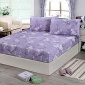 《Victoria》純棉雙人床包+枕套三件組-雅致(5*6.2尺)