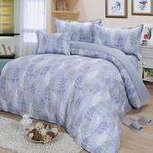 《Victoria》純棉加大五件式床罩組-葉語(6*6.2尺)