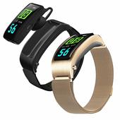 SK28 藍牙耳機運動智慧手環(黑色)