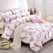 《多利寶》柔絲絨雙人床包兩用被 花卉150*186CM(5*6.2尺) $899