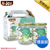 《N-Joy 恩久》500ml有機冷壓初榨椰子油(即期品20190824)(2入禮盒組)