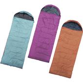 通用露營睡袋-顏色隨機((180+35)x75cm)