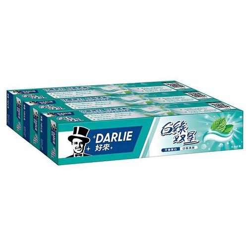 《黑人》白綠雙星牙膏 三入超值組(140g*3)