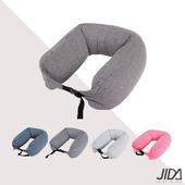 《JIDA》日式簡約微粒子U型護頸枕-摩卡棕(65cmX16cm)
