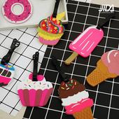 《JIDA》Q版可愛行李箱吊牌-交通工具/甜食款(綜合甜筒)