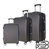 《BATOLON寶龍》【20+24+28吋】精彩假期ABS可加大硬殼箱/行李箱(紳士灰)