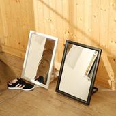 《BuyJM》烤漆鐵製鏡框三段式穿鞋鏡/試鞋鏡(黑色)